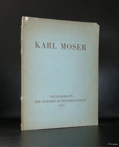 Karl Moser # NEUJAHRSBLATT# 1937, vg-