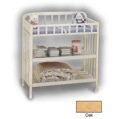 It comes in oak   Contemporary Changing Table by Angel Line by Angel Line, http://www.amazon.com/dp/B000GEAKBE/ref=cm_sw_r_pi_dp_AOb5rb1HGCD6H