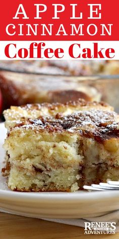 Apple Cinnamon Coffee Cake is an easy recipe for a fresh apple coffee cake made with buttermilk that's great for breakfast, brunch, or a sweet treat anytime of the day. Serve it as dessert or as a breakfast bread. Goes great with a cup of coffee or tea! Cakes Made With Buttermilk, Buttermilk Coffee Cake, Apple Coffee Cakes, Buttermilk Recipes, Recipes With Buttermilk Breakfast, Apple Tea Cake, Easy Apple Cake, Dessert Recipe With Buttermilk, Cinnamon Coffee Cakes