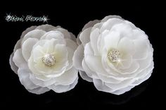 White Bridal Silk Flower with Rhinestone hair clip Bridal Hair Flowers, Silk Flowers, White Bridal, Bridal Sets, Wedding Hair Accessories, Hair Videos, Bridal Jewelry, Hair Clips, Wedding Styles
