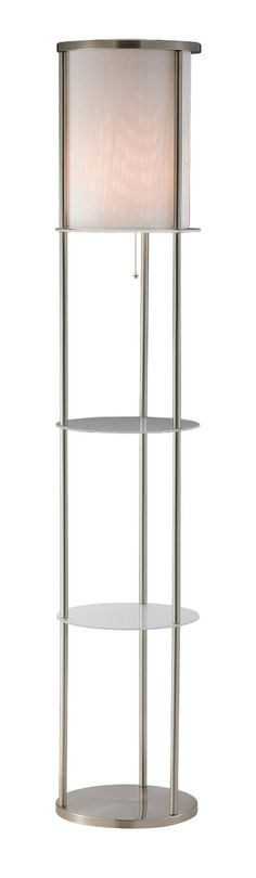 Adesso 3666-22 Holden Shelf Floor Lamp, Satin Steel Finish - Amazon.com