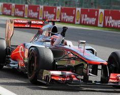Race winner Jenson Button (GBR) McLaren MP4-27 celebrates at the end of the race.  Formula One World Championship, Rd12, Belgian Grand Prix, Preparations, Spa-Francorchamps, Belgium, Sunday, 2 September 2012