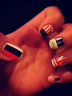 The Olympics may be over, but we're still lusting over Katilin's amazing flag nail decals!