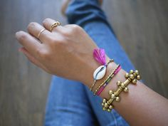 DIY Shell Bracelet From Honestly WTF | Free People Blog