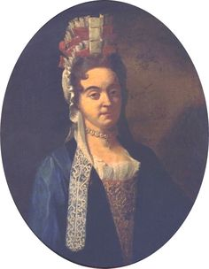 1699 Mme Roig, née Theresa Gazanyola, en coiffe à la Fontange by ? (location unknown to gogm) From pinterest.com/pin/438819557414424188/.jpg