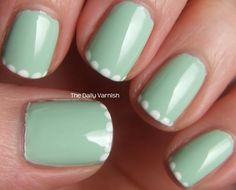 super simple nail art -- scalloped tips would be cool too