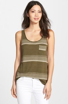 Lucky+Brand+Variegated+Stripe+Tank+available+at+#Nordstrom