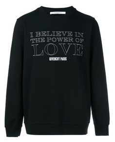 GIVENCHY Power Of Love Print Cotton Sweatshirt. #givenchy #cloth #