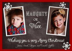 Naughty or Nice Printable Christmas Card