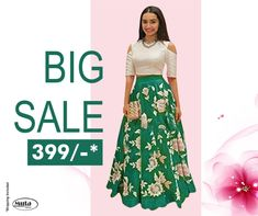 RESTOCKED On Popular Demand!. Get this Gown at only Rs 399/- only on www.mutafashion.com Shop Till You Drop, Silk Gown, Secondary Color, Fabric Shop, Ladies Party, Half Sleeves, Formal Wear, Lehenga, Style Icons