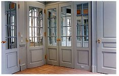 Half mirrored French doors Master Closet Pinterest Doors