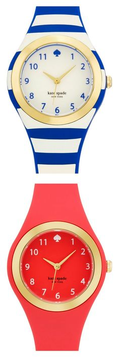 Adding a bit of playful charm with these nautical Kate Spade 'rumsey' watches.