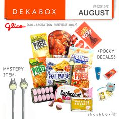 August Dekabox was a Glico Surprise Box with Pop out Strawberry Chocolates, Pocky Decal Stickers, Tom Yum Pretz, and a Totoro Pen as the coveted Mystery Item!