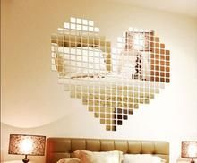 Load image into Gallery viewer, 100 Pcs/set Acrylic Mirrored Decorative Sticker Wall Art DIY Decoration Mirror Wall Stickers For Kids Rooms Home Decor - affordable home livingroom farmhouse decoration ideas Mirror Tiles, Wall Tiles, Rustic Bathroom Decor, Farmhouse Decor, Diy Wall Art, Wall Decor, Floating Shelf Hardware, Floating Shelves, Diy Love