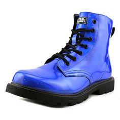 Amazon.com   Gotta Flurt Luna Women Round Toe Synthetic Blue Combat Boot   Boots