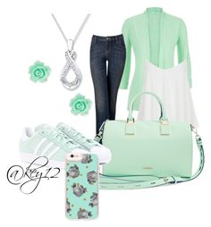 """""""mint wear"""" by key12 ❤ liked on Polyvore featuring maurices, Simply Vera, Topshop, Rebecca Minkoff, adidas Originals and Casetify"""