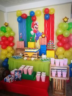 Super Mario Birthday, Mario Birthday Party, Super Mario Party, 1st Boy Birthday, Boy Birthday Parties, Mario Bros., Mario And Luigi, Ideas Para Fiestas, Instagram