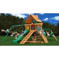 Gorilla Playsets Blue Ridge Frontier Wooden Swing Set