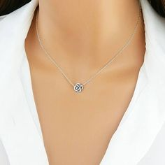 Celtic Knot Necklace, Silver Celtic Knot, Irish Jewelry, Celtic Jewelry, Delicate Gold, Layering Necklace, Gift For Her, Bridesmaid, CKL  $23.00