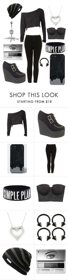 """""""Grayscale"""" by triciabrown ❤ liked on Polyvore featuring *Accessories Boutique, Topshop, American Eagle Outfitters, Effy Jewelry, Neff and Clinique"""