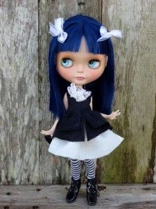 OOAK Custom SBL Blythe Doll OOAK Eyes Freckles Carved Boggled Outfit 11 | eBay