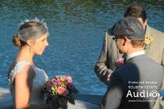 Megan and Chad's magical wedding on the shores of Lake Ellyn. http://www.discjockey.org
