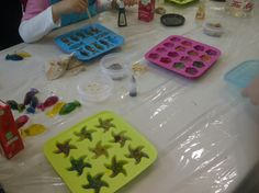 Aww cute little soap making class right outside @The Network Hub! Love @River Market!!!
