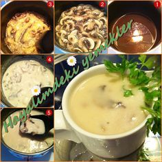 """The post """"Mushroom Soup Recipe"""" appeared first on Pink Unicorn Kreatives Halloween Party Appetizers, Mushroom Soup Recipes, Crescent Roll Recipes, Food Articles, Bon Appetit, Iftar, Stuffed Mushrooms, Food And Drink, Meals"""