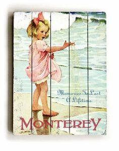 """ArteHouse planked wood sign 18"""" x 24"""" Vintage California Beach Wall Décor by ArteHouse, http://www.amazon.com/dp/B001B8FPY6/ref=cm_sw_r_pi_dp_Wn4arb19DR785"""