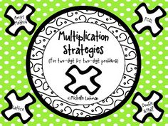 FREEBIE!  Multiplication strategies and practice pages!