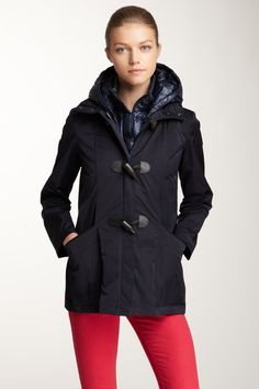 Layered Toggle Button Coat on HauteLook