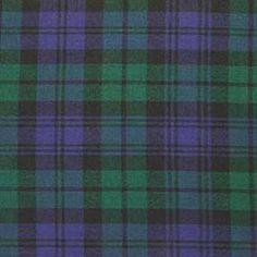 Black Watch tartan: Clan Munro is able to wear this tartan due to Colonel Sir. Robt. Munro (1684-1746), the original Black Watch commander.