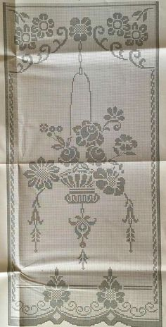 Crochet Curtain Pattern, Crochet Curtains, Crochet Doily Patterns, Crochet Borders, Crochet Tablecloth, Cross Stitch Patterns, Knitting Patterns, Annie's Crochet, Fillet Crochet