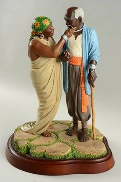African American Figurines, African American Art, Thomas Blackshear, Black Figurines, Beautiful Black Babies, African Home Decor, Cement Crafts, Rite Of Passage, Spring Blossom