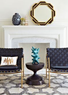 Jonathan Adler pottery gives an instant face lift to any living room
