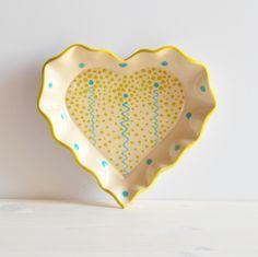 ceramics heart plate