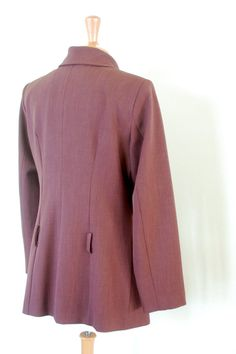 90's Stylish Jacket Burgundy Red Casual Rule of by flyingcloset
