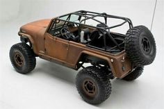 During the last couple of years we have featured some very cool custom vehicles, but this has to be up there with the most unusual! The Rusted Terra Crawler, has a name that says it all, the Jeep is painted in an original Brown rust color and Jeep Jk, Jeep Wrangler, Jeep Tire Carrier, Jeepster Commando, Vintage Jeep, Rc Rock Crawler, Suv Trucks, Cool Jeeps, Car Colors