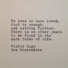 Les Miserables Quote Typed on Typewriter onto by WhiteCellarDoor