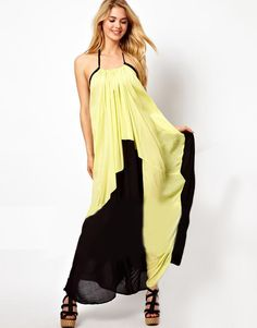 Off-Shoulder Maxi Dress With Open Back