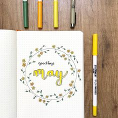 Goodbye May! Somehow the end of a month is so much more a 'thing' now I'm keeping a bullet journal. Do you feel that way too?⠀ .⠀ Used in…