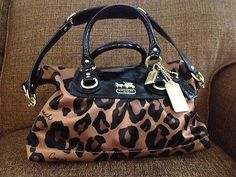"Beautiful COACH ""Animal Print"" Handbag ** Must See!!**"