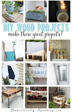 Love these DIY Wood Projects from the DIY Housewives - great build tutorials on wood build projects for your home indoors and outdoors.