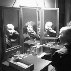 "Alexander (Hammid) Hackenschmied - Untitled Maya Deren with mannequin in mirror c. 1942–1943  From ""Inverted Odyseeys Claude Cahun, Maya Deren, Cindy Sherman"" ,Ed° Shelley Rice,2000."