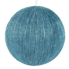 """Glitter Vertical Stripe Ball Size: 4.75"""" Material: Styrofoam Color: Ice Blue  This item is on order and arriving Summer 2015"""