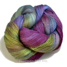 Expression Fiber Arts - SPILLED WINE YAK SILK LACE, $39.00 (http://www.expressionfiberarts.com/products/spilled-wine-yak-silk-lace.html)