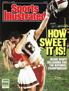January 11 1988 Dennis Kelleher Miami Hurricanes Sports Illustrated a for sale online Sports Magazine Covers, Si Cover, University Of Miami Hurricanes, Hurricanes Football, Sports Illustrated Covers, College Football Teams, National Championship, College Fun, World Of Sports