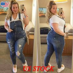 Pickyourlook Women Plus Size Overalls Denim Jumpsuit Blue Fashion Strap Lady Bodysuit Backless Large Size Female Body Rompers Source by nabitoo Jumpsuit Blue, Jumpsuit Denim, Plus Size Jumpsuit, Overalls Plus Size, Curvy Girl Fashion, Blue Fashion, Look Fashion, Unique Fashion, Casual Curvy Fashion