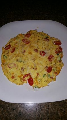 Normally I have a bowl of Cheerios with almond milk in the morning but decided to be good to myself. I made a veggie frittata using zucchini, summer sqash, carrots, sweet bell peppers, grape tomatoes, and shredded Parmesean cheese. Seasoned with sea salt, pepper, Thyme, and nutmeg. DELISH!