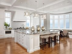 Luxury kitchen with huge island
